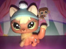 💖Littlest Pet Shop Fox Orange Snowy Day Arctic FOX#1028 Lps Authentic W/items💖