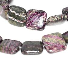 12MM SCHILLER SHEEN SPAR GEMSTONE PURPLE PERFECT SQUARE 12MM LOOSE BEADS 8""