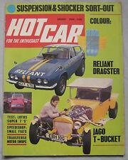Hot Car magazine 08/1969 featuring Lotus  Super 7 seven test