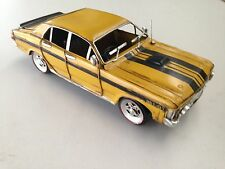FORD XY GT YELLOW & BLACK CAR AUTO VINTAGE AUST'N LEGEND REPLICA METAL MANSHED