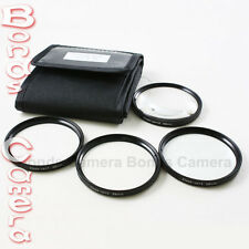 62mm 62 mm Macro Close Up Filter Kit +1 +2 +4 +10 for Canon Nikon camera + case