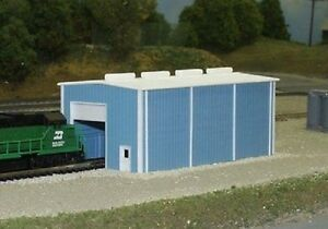 Pikestuff (N-Scale) #541-8002 Small Engine House -- 30' x 60' (blue) - Kit - NIB