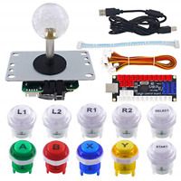 SJ@JX Arcade LED DIY Kit USB Encoder Board Controller Joystick LED Button for Pi