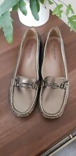 Size 6 ladies Shuropody 'Foot Clinic' comfort soft leather low wedge loafers