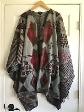 American Eagle Aztec Poncho Sweater Womens One Size