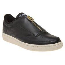 Reebok Club C 85 Zip Black Sleek MET Leather Women Casual Shoes SNEAKERS  BS6608 UK 4 866eaf9f2