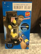 New listing Hungry Bear Target Shooting Game With Sound Counter Pump Action Blakjax New Nib
