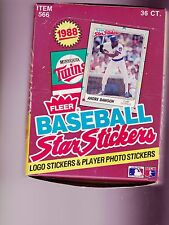 1988  FLEER STAR STICKERS Wax Box UNOPENED  36 PACKS