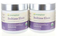 2 Pack Amazing Grass Bedtime Elixer - Greens & Adaptogens - 4.2oz Ea (40 Serv)