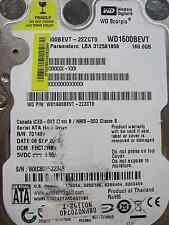 Western Digital 160 GB WD1600BEVT-22ZCT0 DCM: FHCT2HBB | 06SEP2008 | Festplatte
