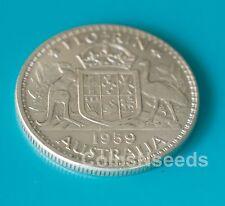 1959 One Florin Australian Silver Pre Decimal Coin Queen Elizabeth II