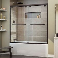 "DREAMLINE ENCORE 56""-60"" X 58"" BYPASS SLIDING TUB DOOR, 5/16"" CLEAR GLASS/ORB"