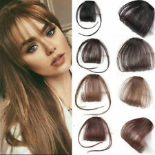 Thin Neat Wispy Bangs Real as Natural Human Hair Clip in Fringe Front Hairpiece