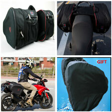 Motorcycle Saddle Bags Luggage Pannier Helmet Tank Bags 36-58L W/Rain Cover Set
