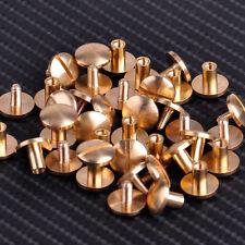 20x Round Head Stud Screwback Leather Brass Nail Bag Wallet Belt Screw Rivets