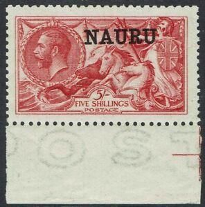 NAURU 1916 KGV SEAHORSES 5/-