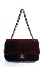 Chanel предварительно осень 2019 коллекция овчины заслонка сумочка через плечо красный синий