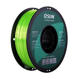 Lime Green - eSUN eSILK PLA (Metallic) - 1.75mm 3D Printer Filament 1KG/2.2lb