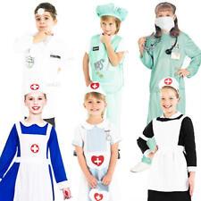 Doctors & Nurses Kids Fancy Dress Hospital ER Uniform Boys Girls Childs Costume