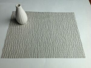 Twelve Silver Lattice Chilewich Placemats NEW