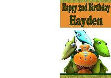 Personalised Kid's Birthday Card with Dinosaur Train Design - Any name and age