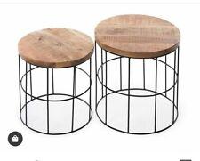 18x12 ,16x12 iron and wood stool lfinishing- black coating on iron and natural
