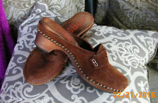 Michael Kors Shoes Wooden Clogs, Boho Chic, Suede Clogs, Made in Italy, Size 6