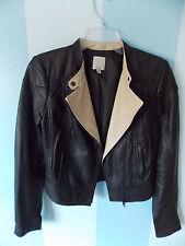 Halogen Nordstroms Black Leather Moto Jacket Size Small MSRP 378$
