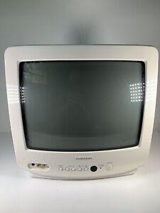 "White Samsung 13"" Model TXD1373 CRT Color TV Retro Gaming Monitor Television"