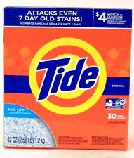 1 Box Tide 42 Oz Original Acti LIft Crystals 30 Loads Laundry Detergent