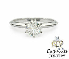 CERTIFIED .75ct CARAT F/VS2 ROUND-CUT DIAMOND 14K GOLD SOLITAIRE ENGAGEMENT RING