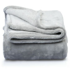 Fleece Fur Cozy Bed Blanket Thermal, Lightweight Throw Blanket (59x82), Gray