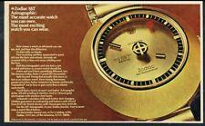 1971 Zodiac SST 36000 Astrographic gold watch photo vintage print ad