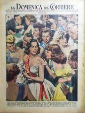 La Domenica del Corriere 31 Agosto 1952 Miss Europa Malenkov Pilota Alieni Ossa