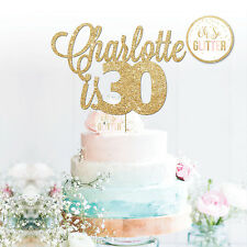 CUSTOM 30 Cake Topper, Personalised,16,18,21,30,40,50,60, 30th Birthday cake