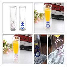 Drinking Glass Set Boy Girl Symbol Valentines Gift Wedding Glasses Anniversary