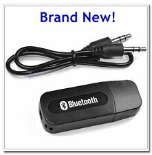 USB Wireless Bluetooth 3.5mm Home Music Audio Car Handsfree Receiver/Car Charger