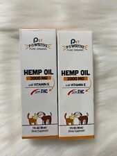 2-Pack Pet Pawsitive Pure Organic Hemp Oil For Dogs & Cats 2000mg W/ Vitamin E