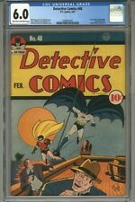 DETECTIVE COMICS #48 CGC 6.0 1941 1ST MENTION OF BATMOBILE & GOTHAM CITY