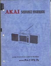 AKAI pj-11fs fl Service Manual stereo tape player boombox radio ghettoblaster