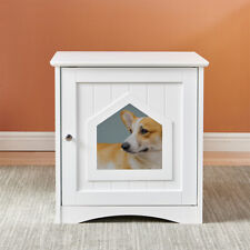 New listing Decorative Cat House Side Table Cat Home Indoor Pet Crate Home Easy Access New