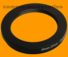 Retencion 49mm A 37mm 49-37 Stepping Step Down filtro anillo adaptador 49-37mm 49mm-37mm