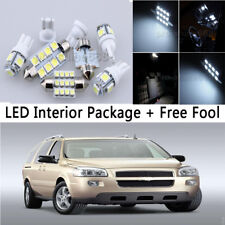 12 Bulb LED Interior Light Package kit For 2005-2009 Chevrolet Uplander White NQ