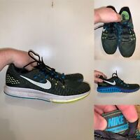 Nike Zoom Structure 19 Mens Size 12 Running Shoes Green Blue Lace Up Comfort