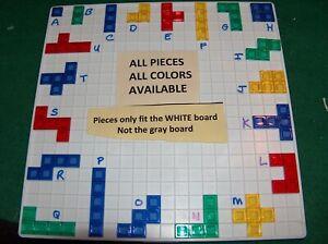 Blokus Game Individual Replacement Pieces  Mattel 2013 2016 2019 White board