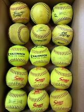 15 Used Fast Pitch Softballs , Mixed Lot , 12 Inch