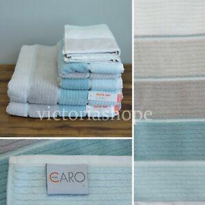 NWT CARO HOME ~ YOU CHOOSE Bath/Hand/Fingertip Towels  ~ White/Gray/Blue