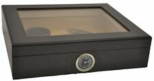 Humidor for 25 Cigar - Crystal Glass - selbstregulierend - carbon-finish