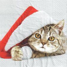 4 Solo Papel Decoupage Servilletas Navidad Navidad 871 de invierno diseño de puerta Roja
