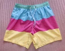 Boardies Apparel Mens Bright Striped Swim Shorts (Small) Swimming Trunks
